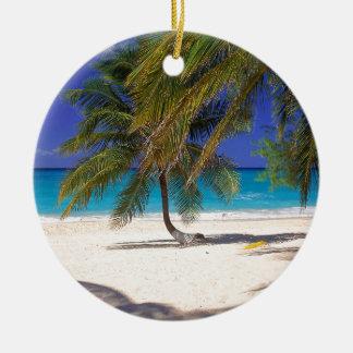 Tropical Island Seven Mile Grand Cayman Christmas Ornament