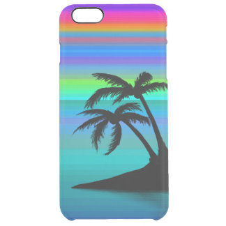Tropical Island Sunset Clear iPhone 6 Plus Case