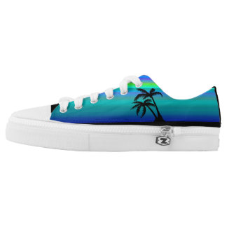 Tropical Island Sunset Printed Shoes