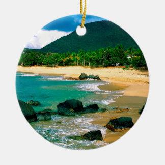 Tropical Island The Shores St Martin Christmas Ornament