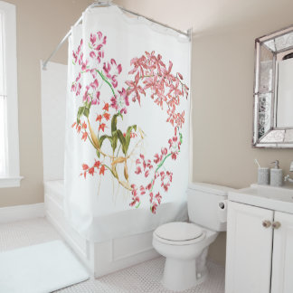 Tropical Islands Orchid Flowers Shower Curtain