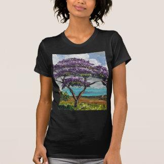 Tropical Jacaranda Tree Art T-Shirt