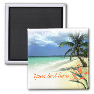 Tropical Jamaican Hawaiian Wedding Favor Keepsake Magnet