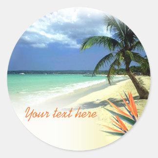 Tropical Jamaican Hawaiian Wedding Stickers