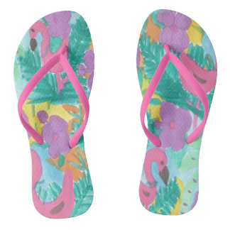 Tropical Jungle Flipflops