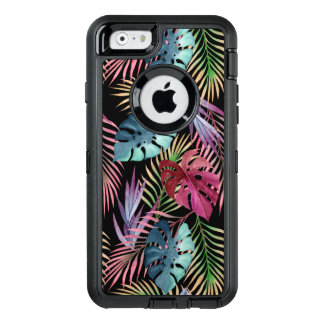 Tropical Jungle Foliage Botanical Pattern OtterBox Defender iPhone Case