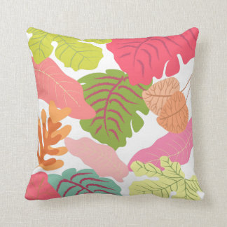 Tropical Jungle Leaves Pip Pip Hooray Vector Art Throw Pillows