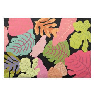 Tropical Jungle Leaves Pip Pip Hooray Vector Art Place Mat