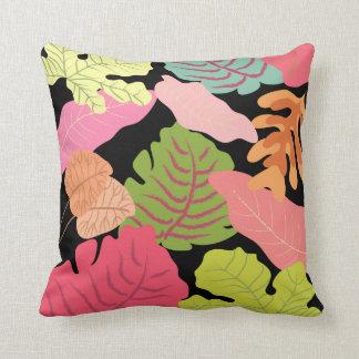 Tropical Jungle Leaves Vector Art Cushion