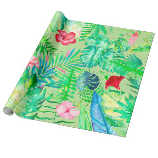 tropical jungle wrapping paper
