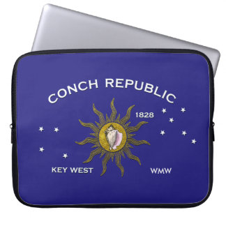 Tropical Key West Flag Personalize Computer Sleeves