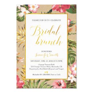 Tropical Kraft  Bridal Brunch Invitation