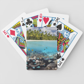 Tropical Lagoon in South Ari Atoll Bicycle Playing Cards