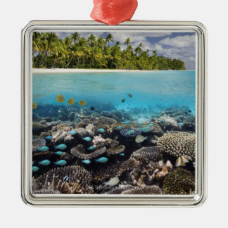 Tropical Lagoon in South Ari Atoll in the Christmas Ornament