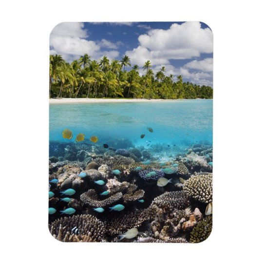Tropical Lagoon in South Ari Atoll in the Rectangular Photo Magnet