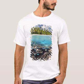 Tropical Lagoon in South Ari Atoll in the T-Shirt