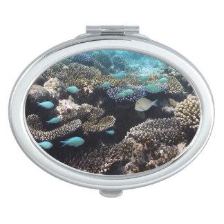 Tropical Lagoon in South Ari Atoll Vanity Mirrors
