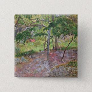 Tropical Landscape, Martinique, 1887 15 Cm Square Badge
