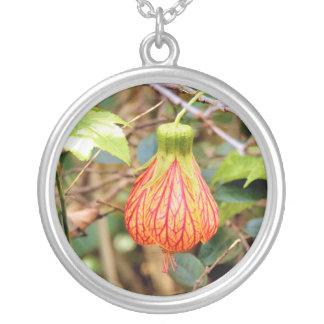 Tropical Lantern Flower Necklace