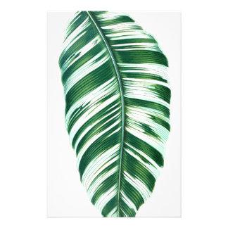 Tropical leaf #5 stationery paper