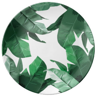 Tropical Leaf Decorative Porcelain Plate