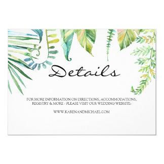 Tropical Leaf Details Card
