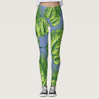 Tropical Leaf Leggings