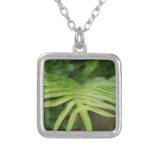 Tropical Leaf Personalized Necklace