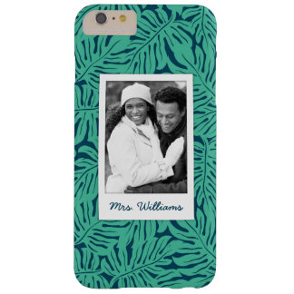 Tropical Leaf Pattern | Add Your Photo & Name Barely There iPhone 6 Plus Case