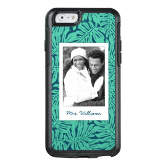 Tropical Leaf Pattern | Add Your Photo & Name OtterBox iPhone 6/6s Case