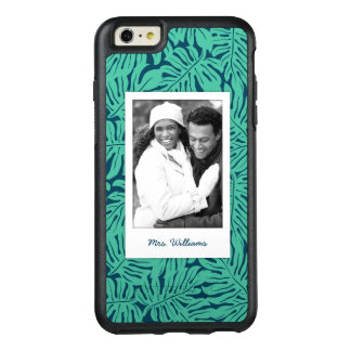 Tropical Leaf Pattern | Add Your Photo & Name OtterBox iPhone 6/6s Plus Case