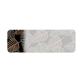 Tropical Leaf Pattern in Brown, Gray and Black.
