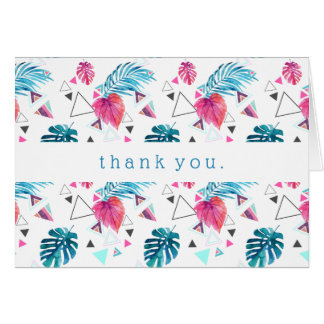 Tropical Leaf Triangle Pattern Card