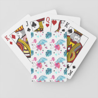 Tropical Leaf Triangle Pattern Playing Cards