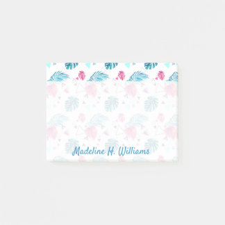 Tropical Leaf Triangle Pattern Post-it Notes
