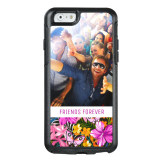 Tropical Leaves And Flowers | Add Your Photo & Nam OtterBox iPhone 6/6s Case