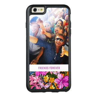 Tropical Leaves And Flowers | Add Your Photo & Nam OtterBox iPhone 6/6s Plus Case
