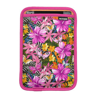 Tropical leaves and flowers iPad mini sleeve