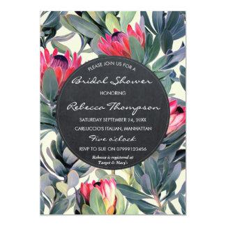 Tropical leaves bridal shower wedding invitation