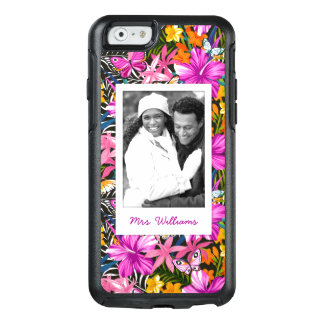 Tropical Leaves & Flowers | Add Your Photo & Name OtterBox iPhone 6/6s Case