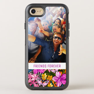 Tropical Leaves & Flowers | Add Your Photo & Text OtterBox Symmetry iPhone 8/7 Case