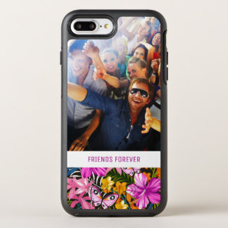 Tropical Leaves & Flowers | Add Your Photo & Text OtterBox Symmetry iPhone 8 Plus/7 Plus Case