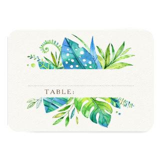 Tropical Leaves Guest Place Cards 9 Cm X 13 Cm Invitation Card