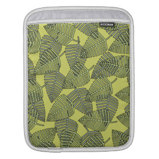 Tropical Leaves in Green Colors. iPad Sleeve