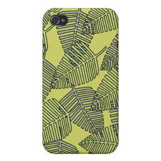 Tropical Leaves in Green Colors iPhone 4/4S Covers