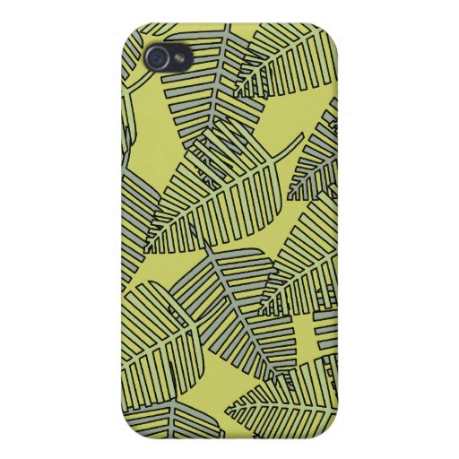 Tropical Leaves in Green Colors. iPhone 4/4S Covers