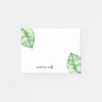 Tropical Leaves Note to Self Personalized Post it