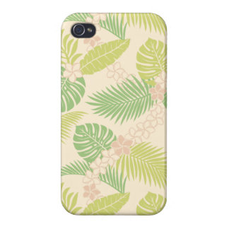 Tropical Leaves Pattern 1 iPhone 4 Covers
