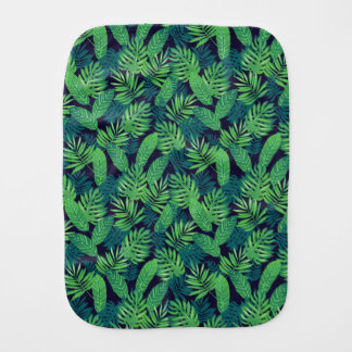 Tropical Leaves Pattern Burp Cloths