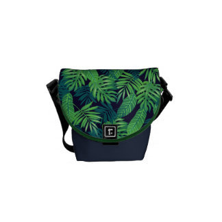 Tropical Leaves Pattern Courier Bags